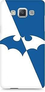 Amez designer printed 3d premium high quality back case cover for Samsung Galaxy A5 (Batman Blue n white)