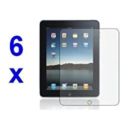 Screen Protector for Apple iPad 2 & 3, Includes Microfibre Cleaning Cloth And Application Card, 6 Pack