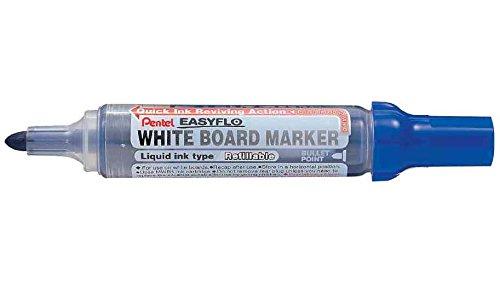 PENTEL Lot de 6 Marqueurs tableau blanc EASYFLO MW50M Pte ogive 2,5 mm Bleu