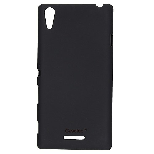 Casotec Ultra Slim Hard Shell Back Case Cover for Sony Xperia T3 - Black  available at amazon for Rs.125