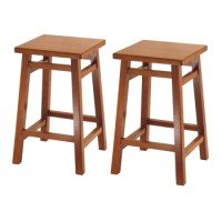 Winsome Square Seat 24 inch Stool-Set of 2