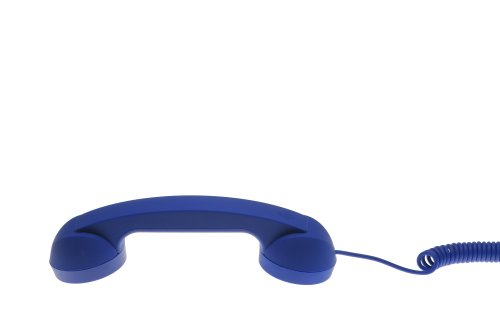 Native Union Moshi Moshi Retro POP Handset for iPhone, iPad, iPod, and Android Phones - Soft Touch - Dark Blue