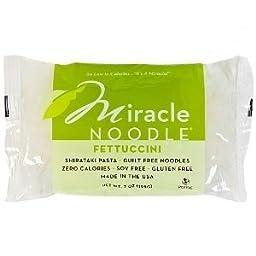 Miracle Noodle Shirataki Fettuccini, 7-ounce Package