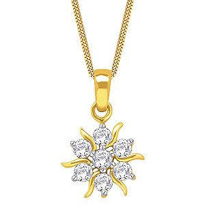Nakshatra Diamond Pendant NPA172 | Color Yellow