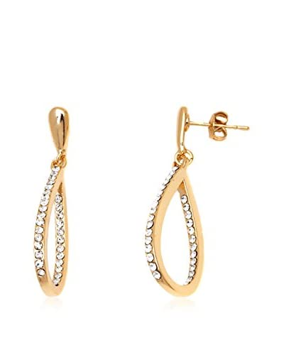 Barzel 18K Gold-Plated Sparkle Teardrop Earrings with Swarovski Crystal Elements