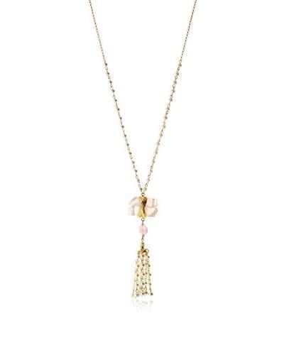 Jardin Rose Quartz/Freshwater Pearl/Agate Tassel Necklace