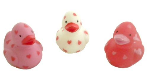 24 Itty Bitty Miniature VALENTINE/HEART Rubber Ducks/DUCKIES/NEW/DOZEN/Sweetheart/LOVE
