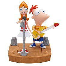 Disney Phineas and Ferb Mini Figure 2Pack Phineas Candace Rockin Stage - 1