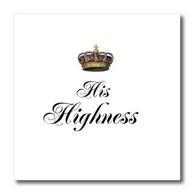 InspirationzStore His and Hers gifts - His Highness - part of a his and hers couples gift set - funny humorous royalty mr and mrs humor - Iron on Heat Transfers