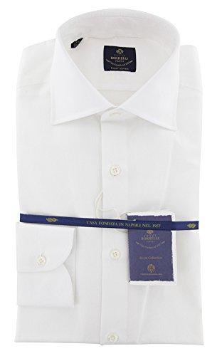 new-luigi-borrelli-white-solid-extra-slim-shirt