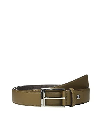 Borbonese Cintura Pelle [Verde Militare/Marrone]