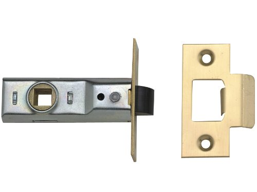 Yale Locks PM888PB25 Rebated Mortice Latch 64mm 2.5-inch - Polished Brass Finish (Visi Pack of 1)