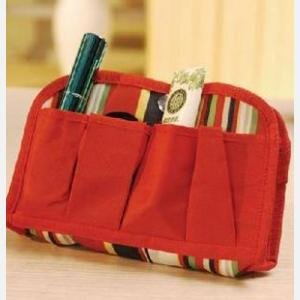 Bds - Red Travel Toiletry Cosmetic Makeup Bag Organizer
