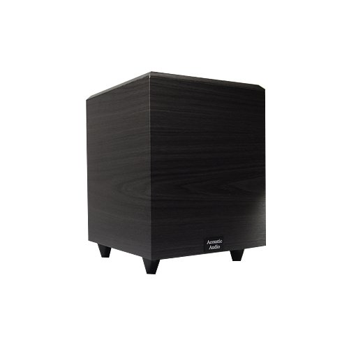 Acoustic Audio Psw-8 Down Firing Powered Subwoofer (Black)