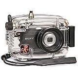 水中カメラハウジング - ソニーサイバーショットDSC-W350デジタルカメラ用防水マリンケース