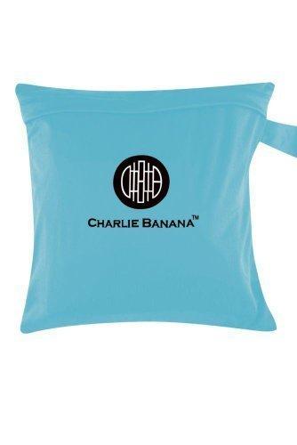 Charlie Banana Washable Diaper Tote Wet Bag (Turquoise) by Charlie Banana (English Manual)