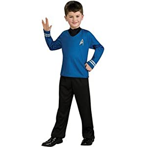 Star Trek Movie Child's Blue Shirt Costume with Dickie and Pants