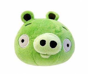 Angry Birds 5-Inch Plush - Green Pig