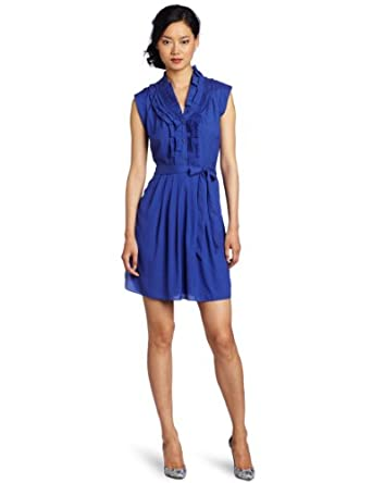 Ted Baker Women's Uliina Dress, Mid Blue, UK 1/US 4