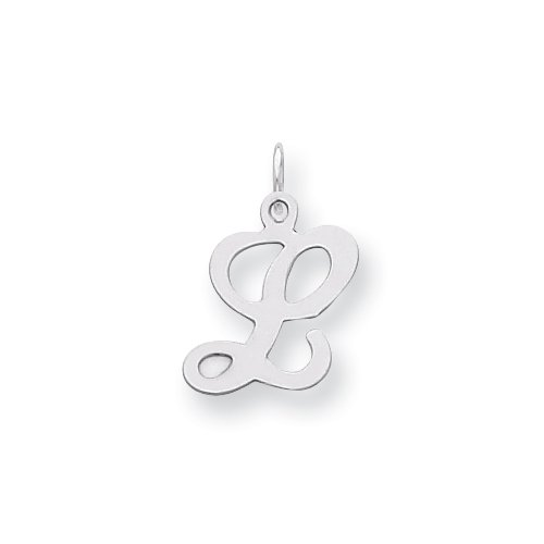 Sterling Silver Stamped Initial L Charm