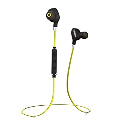 Bluetooth Headphones, Bluenin Wireless Earbuds Sport Headset Magnetic Sweatproof Built-in Mic Earphones with Mic/Running/Gym/Exercise/Workout for iPhone Android Smartphones (6-Hour Playtime)