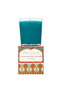 Pacifica Indian Coconut Nectar 5.5 oz Soy Boxed Glass Candle by Pacifica