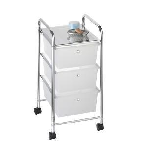 schubladenwagen rollwagen rollcontainer badwagen siena verchromt mit 3 transparenten. Black Bedroom Furniture Sets. Home Design Ideas