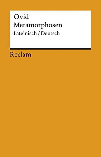 Metamorphosen: Lat./Dt. (Reclams Universal-Bibliothek)