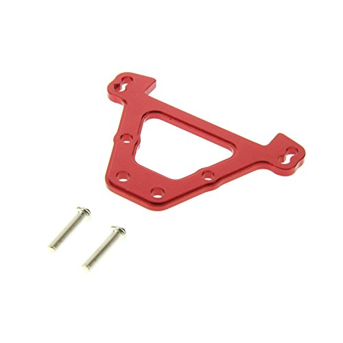GPM Racing Rear Bulkhead Tie Bar for 1:10 Traxxas E Revo + Other TRX Models, Red - 1