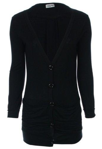Womens Button Up Boyfriend Cardigan