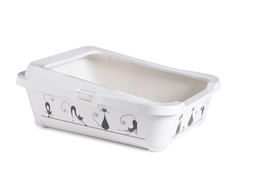 clean-n-tidy-cat-silhouette-litter-tray-and-rim-42-cm