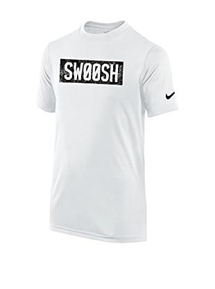 Nike Camiseta Manga Corta Legend Ss Swsh Block Buzz Yth (Blanco / Negro)