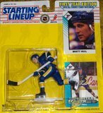 1993 - Kenner / NHL - Starting Lineup - Brett Hull / St. Louis Blues Figure - First Year Edition - w/ 2 Trading Cards - MOC - Limited Edition - Collectible - 1