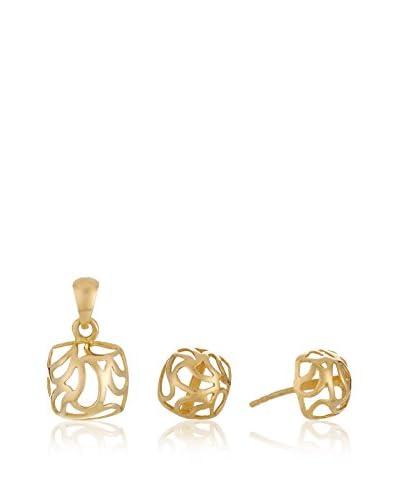 GOLD & DIAMONDS Set Orecchini e pendente oro 18 kt