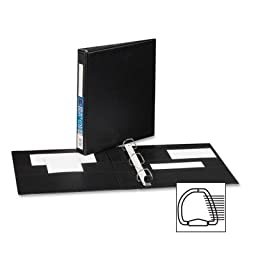 Heavy-Duty Vinyl EZD Ring Reference Binder w/Label Holder