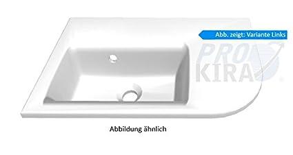 pelipal 9015Mineral marmo lavabo, Bianco/mmwtr 76–570/B: 55cm