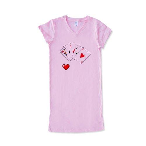 CafePress - I Love Poker Women's Nightshirt - Women's Nightshirt, Soft Long Pajama Shirt, Cotton PJs / Pyjamas