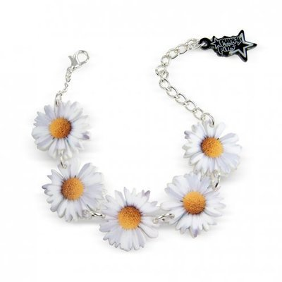 Acrylic Daisy Chain Flower Bracelet 21cm Adjustable