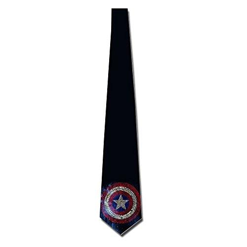 MDSHOP Men's Super Hero Captain America Shiled Neck Tie White (Bow Tie Captain America compare prices)