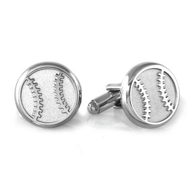 Round Cufflinks In Stainless Steel With 23K Gold & Rhodium Electroplating