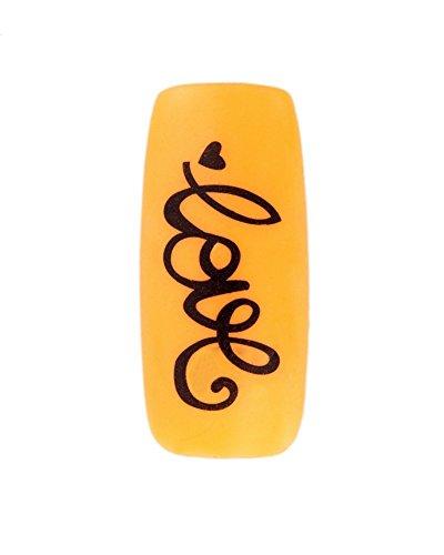 Schwarz Love Schrift und Herzen Designs Nail Art Nagelkunst Stickers / Klebebilder / Abziehbilder / Aufkleben Bilder Beste Qualität Dekorationen Von VAGA