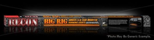 "Recon 26414 62"" Big Rig Led Running Light Kit Amber 2Pc Set Left & Right Side"