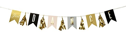 Talking Tables Glitterati 'Just Dance' Party Garland with Tassels, Gold