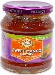Patak's Sweet Mango Chutney (Sweet & Spicy Mango Preserve - Mild) - 12oz from Patak's