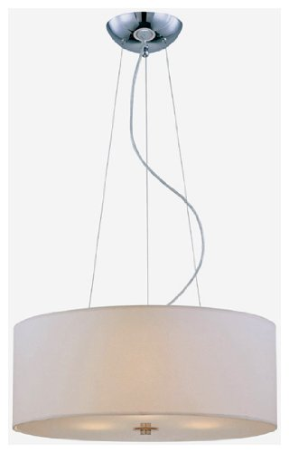 B0035E8DS4 Lite Source LS-19149 Olwen II 24-Inch Ceiling Lamp, Chrome with White Paper Shade