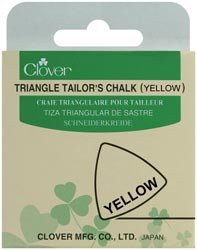 Clover Triangle Tailors Chalk Yellow; 3 Items/Order