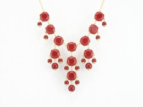 2012 New Mini Color Bubble BIB Statement Necklace - Wine Red (A)