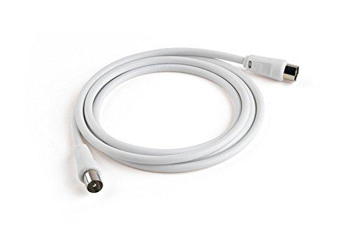 Meliconi Cavo per Antenna da 2 m, Bianco