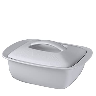 Jamie Oliver White on White Covered Dish 2.4L