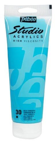 Studio Acrylics 250-Milliliter Acrylic Paint, Turquoise Blue